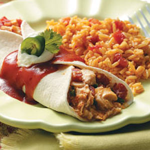 Taco wraps met kip
