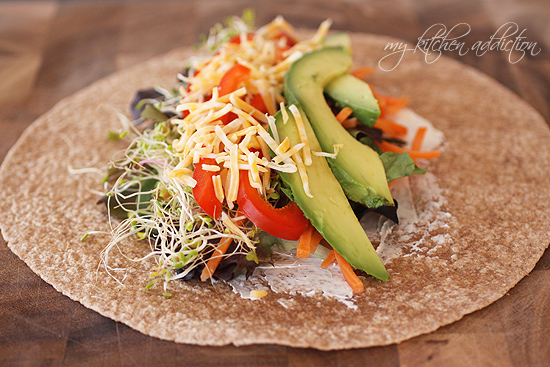 Californische vegetarische wraps