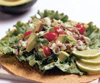 Wraps met avocado en fetakaas