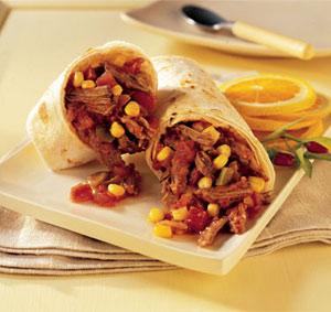 Wraps met shoarma en salsa